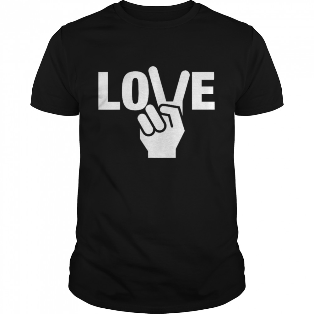 Peace Love Tee shirt Classic Men's T-shirt