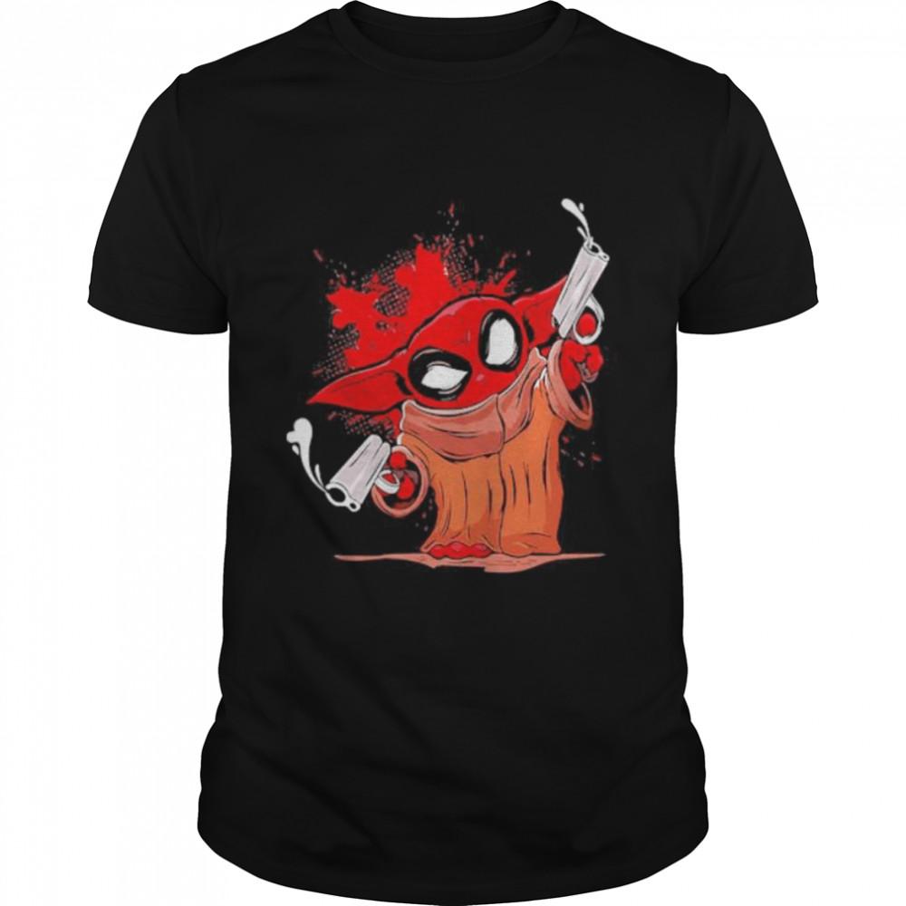 Pew Pew Baby Yoda Gun  Classic Men's T-shirt