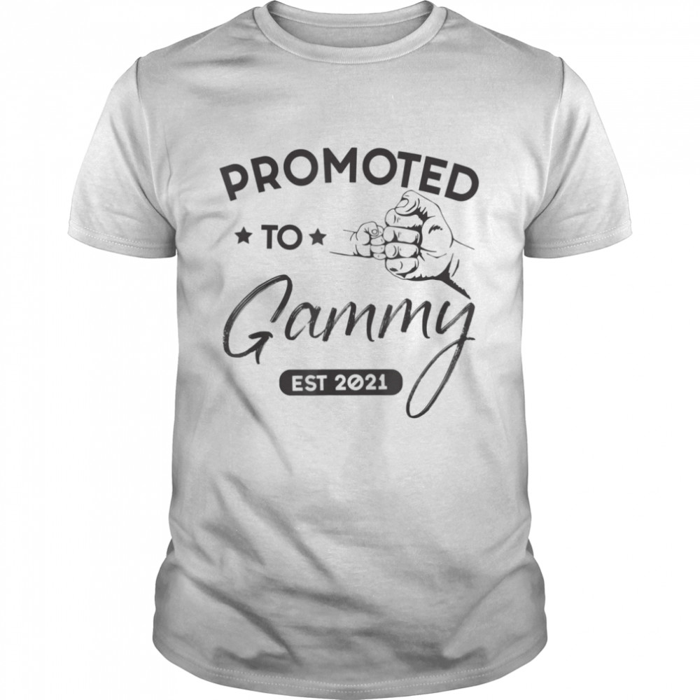 Promoted To Gammy Est 2021 Baby Family Shirt