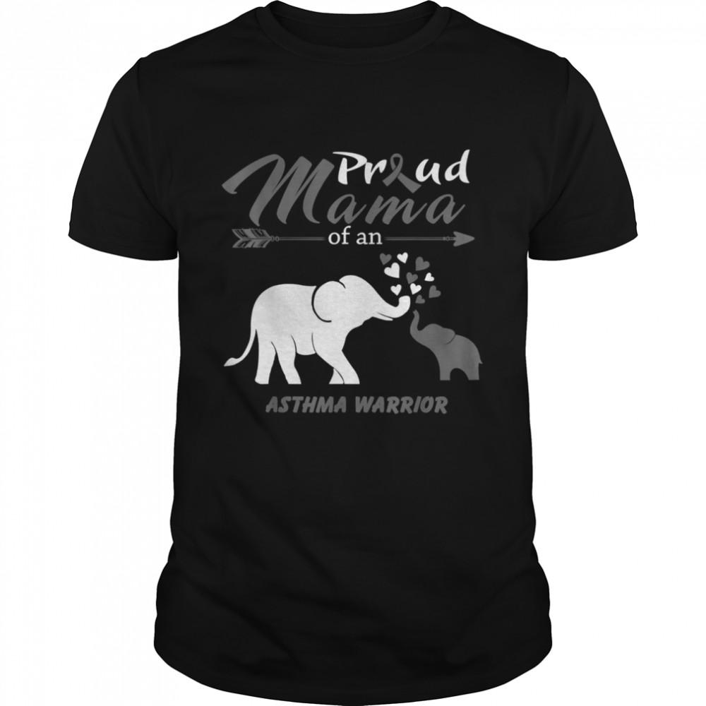 Proud Mama Of An Asthma Warrior  Classic Men's T-shirt