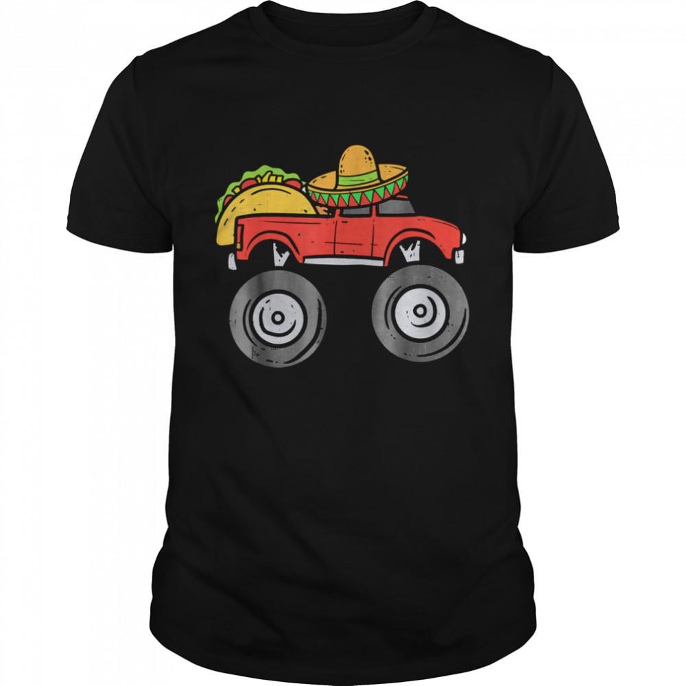 Taco Monster Truck Sombrero Cinco De Mayo Mexican Boys shirt Classic Men's T-shirt