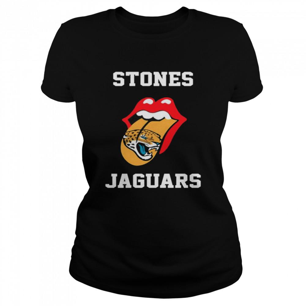 The Rolling Stones Jacksonville Jaguars lips shirt Classic Women's T-shirt