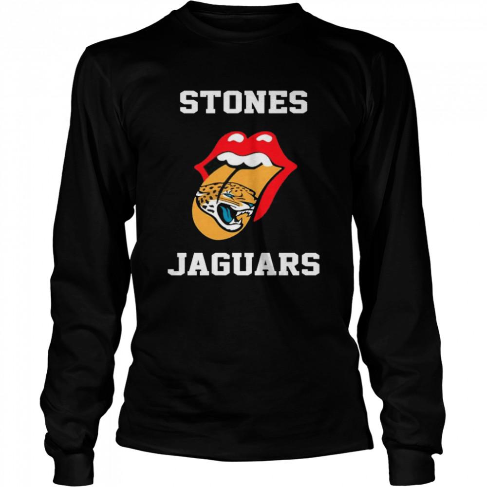 The Rolling Stones Jacksonville Jaguars lips shirt Long Sleeved T-shirt