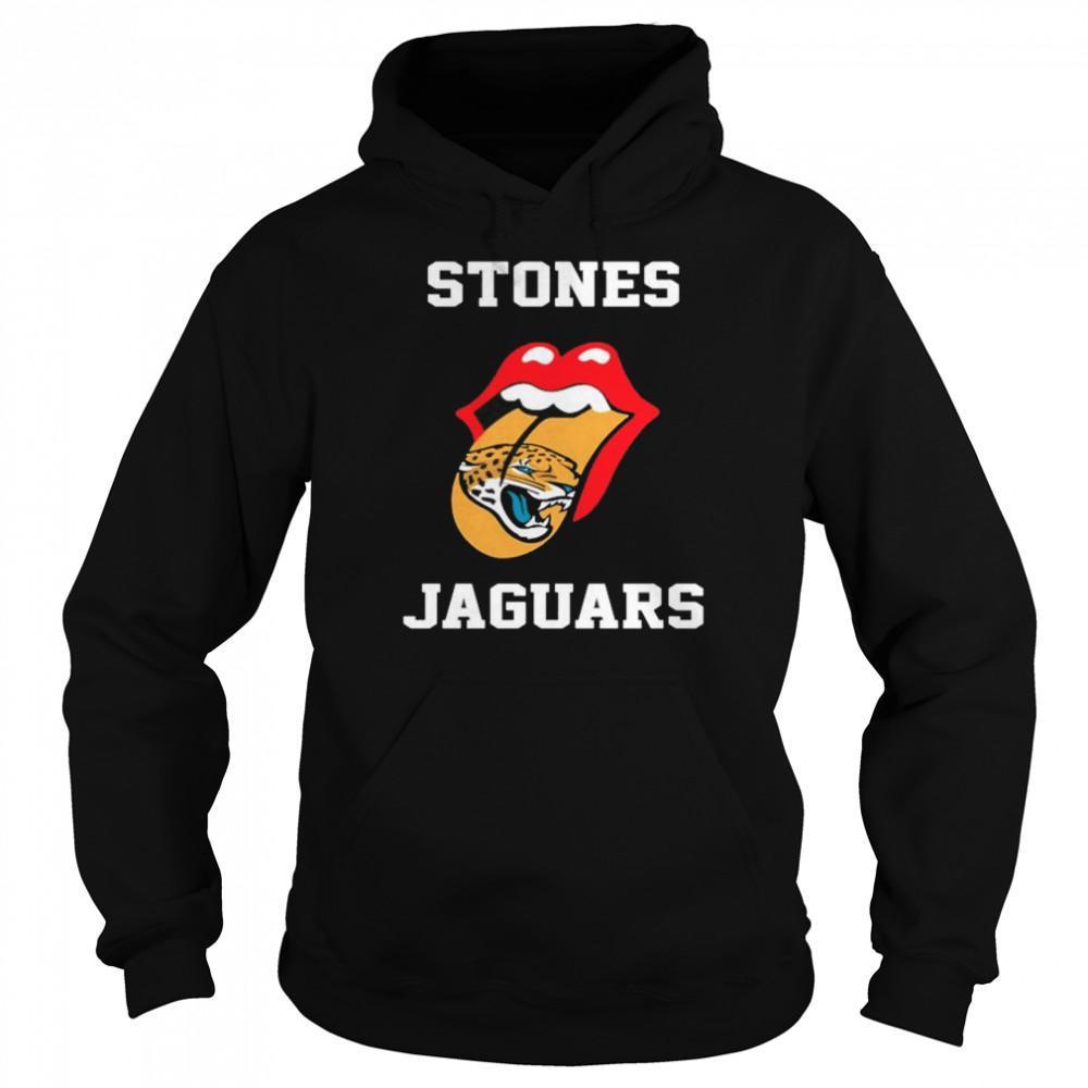 The Rolling Stones Jacksonville Jaguars lips shirt Unisex Hoodie