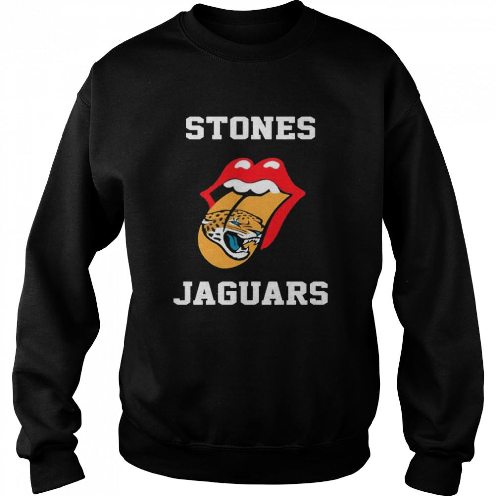 The Rolling Stones Jacksonville Jaguars lips shirt Unisex Sweatshirt