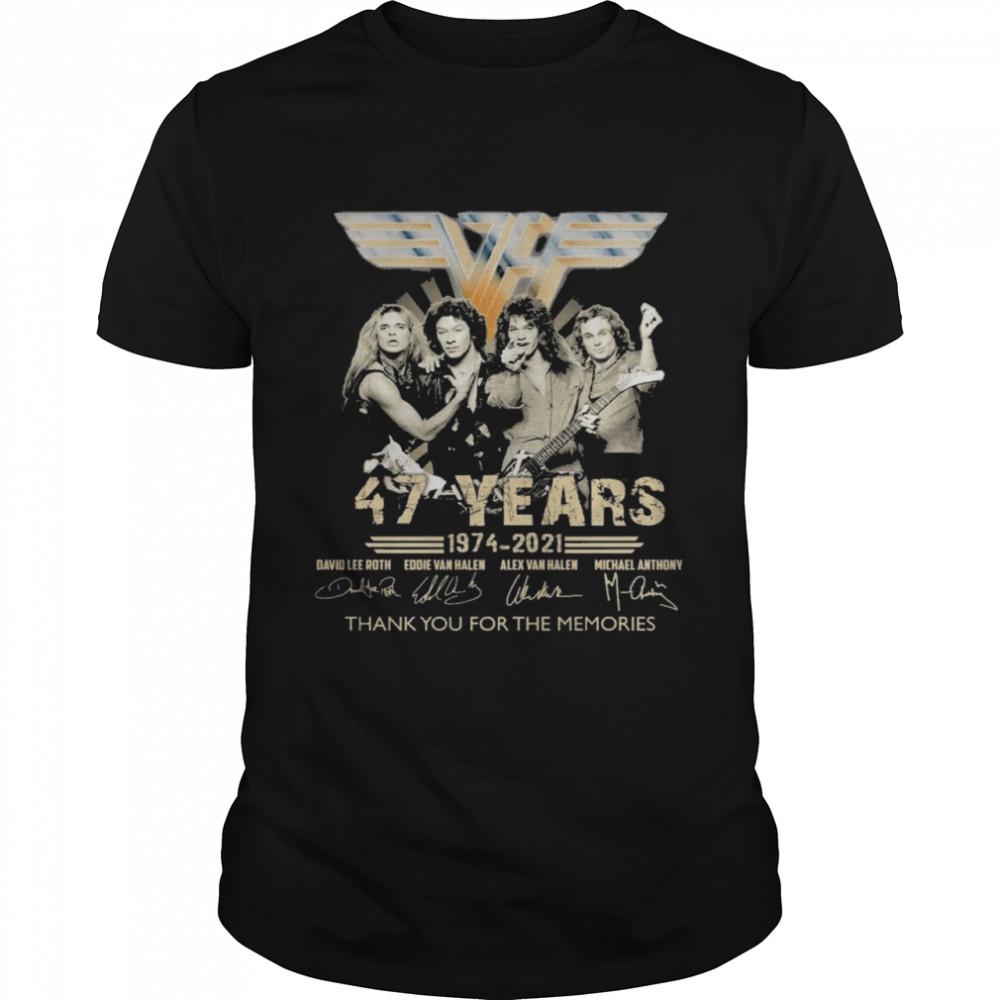 Van Halen 47 years 1974 2021 signatures thank you for the memories shirt Classic Men's T-shirt
