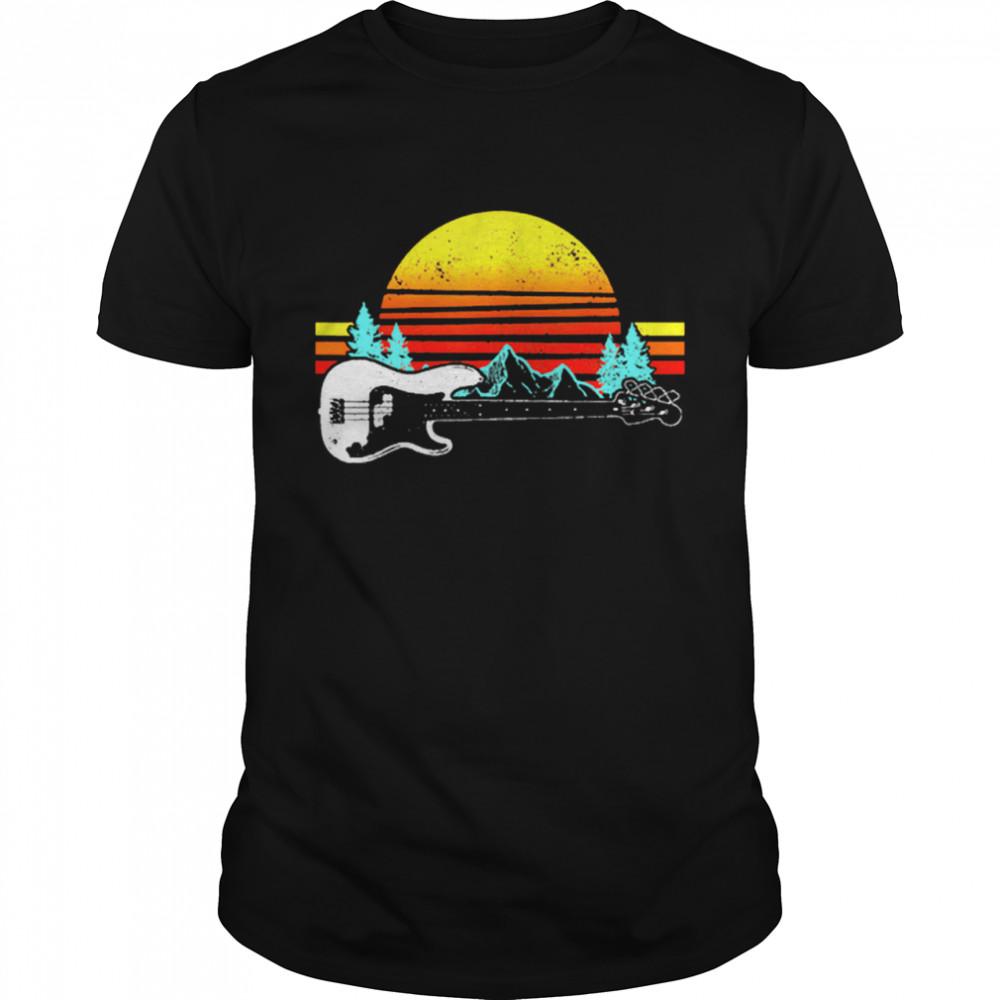 Vintage Retro Sunshine Bass Guitar shirt Classic Men's T-shirt