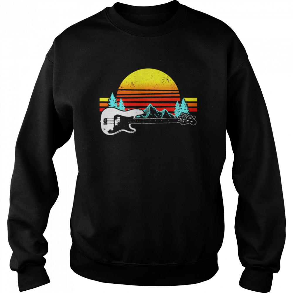 Vintage Retro Sunshine Bass Guitar shirt Unisex Sweatshirt