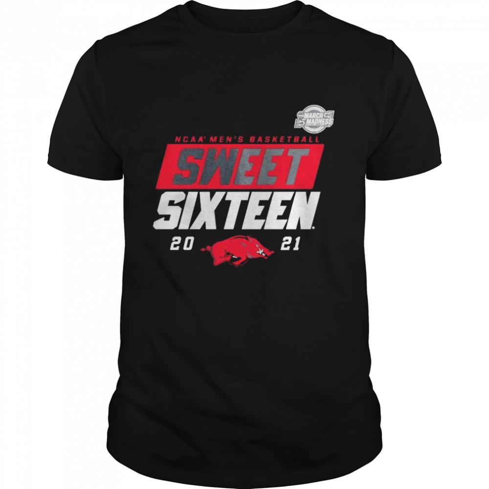 Arkansas Razorbacks 2021 NCAA men's basketball Sweet Sixteen shirt