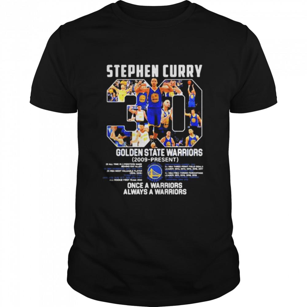 Stephen Curry Golden State Warriors 2009 Once A Warrior Always A Warriors  Classic Men's T-shirt