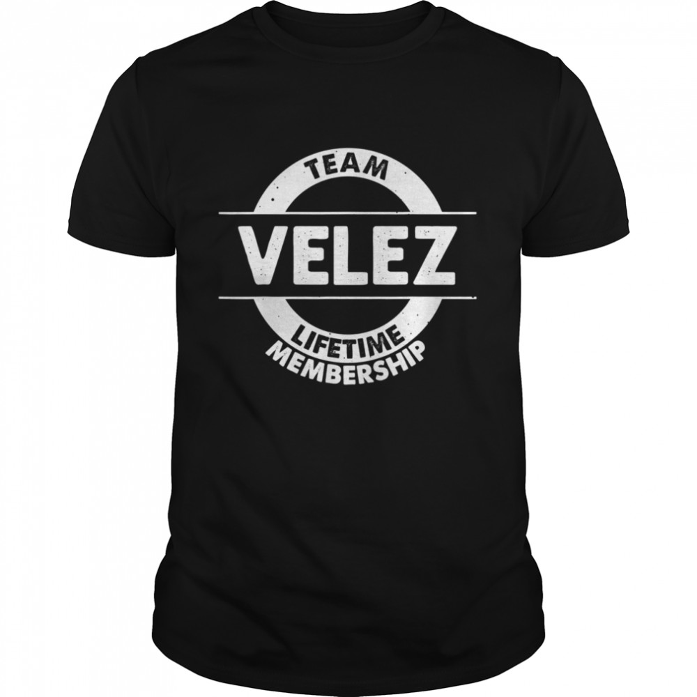 VELEZ Surname Family Birthday Reunion Idea  Classic Men's T-shirt