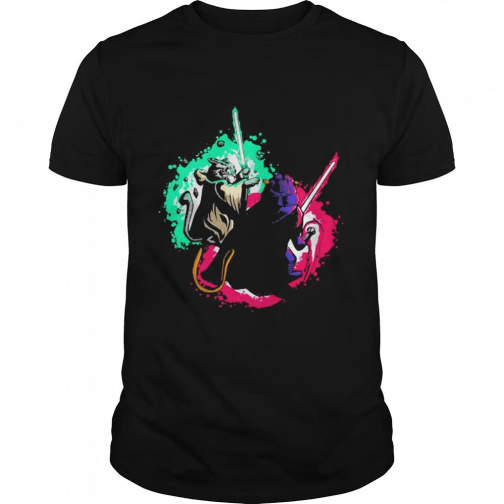 Cat Wars Sword Fighting Cats  Classic Men's T-shirt