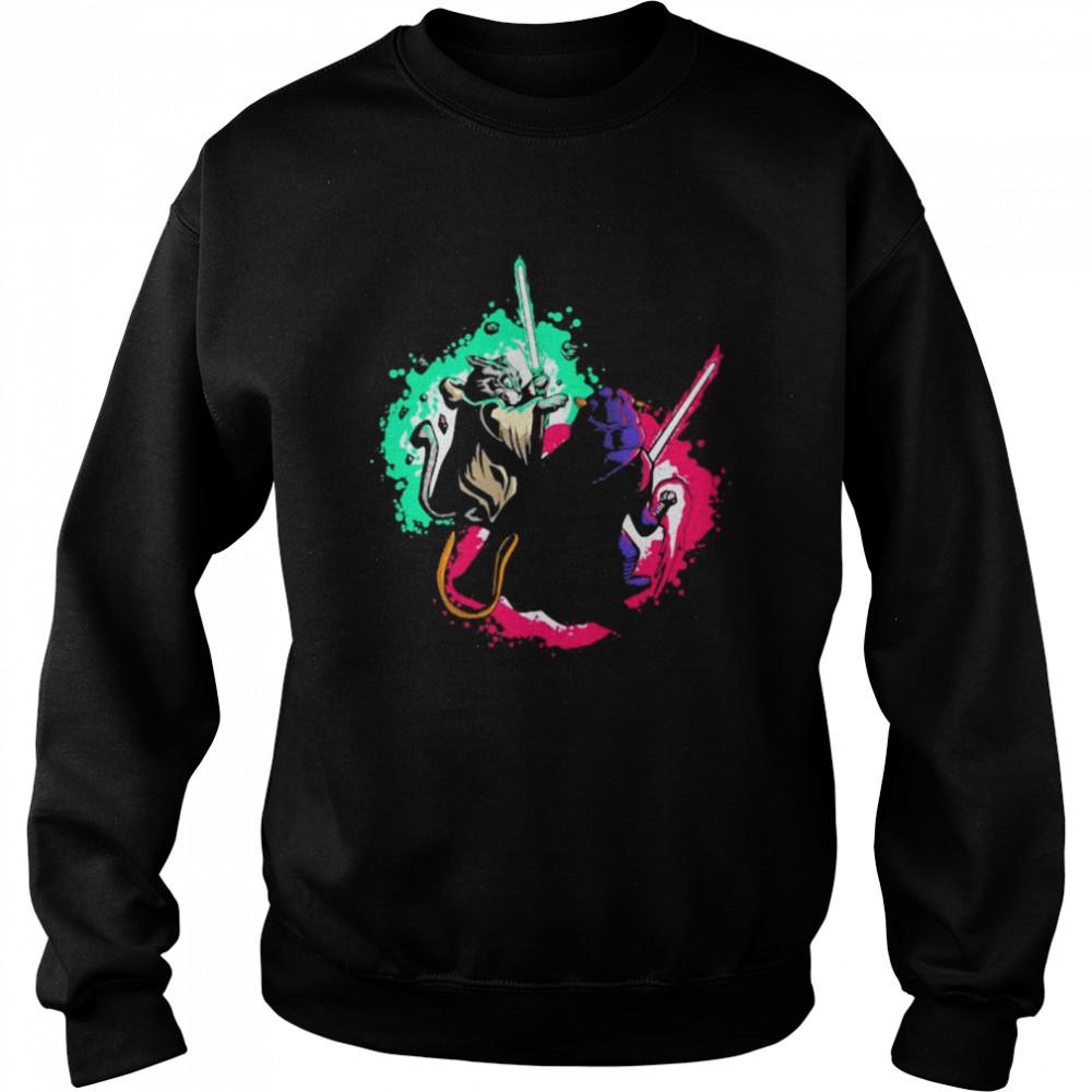 Cat Wars Sword Fighting Cats Unisex Sweatshirt