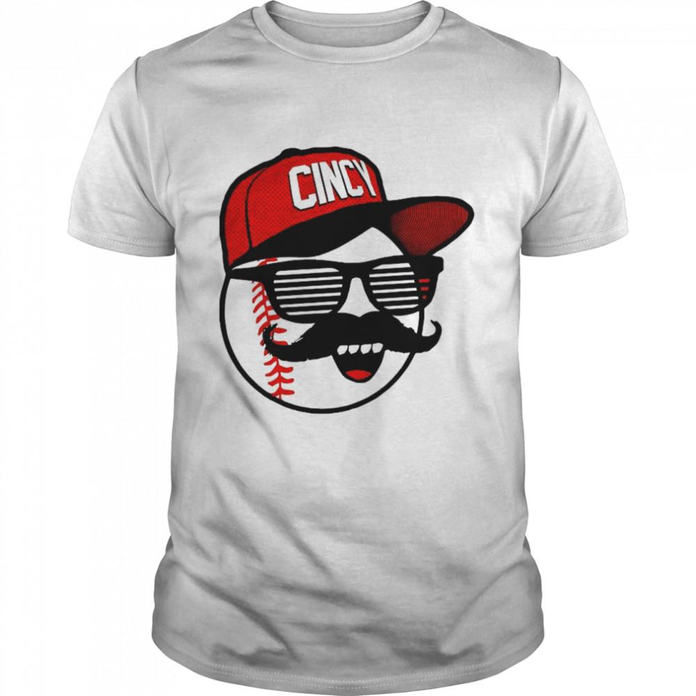 Cincy s Baseball – Mlbpa, Johnny Bench Mr. Red Shades shirt Classic Men's T-shirt