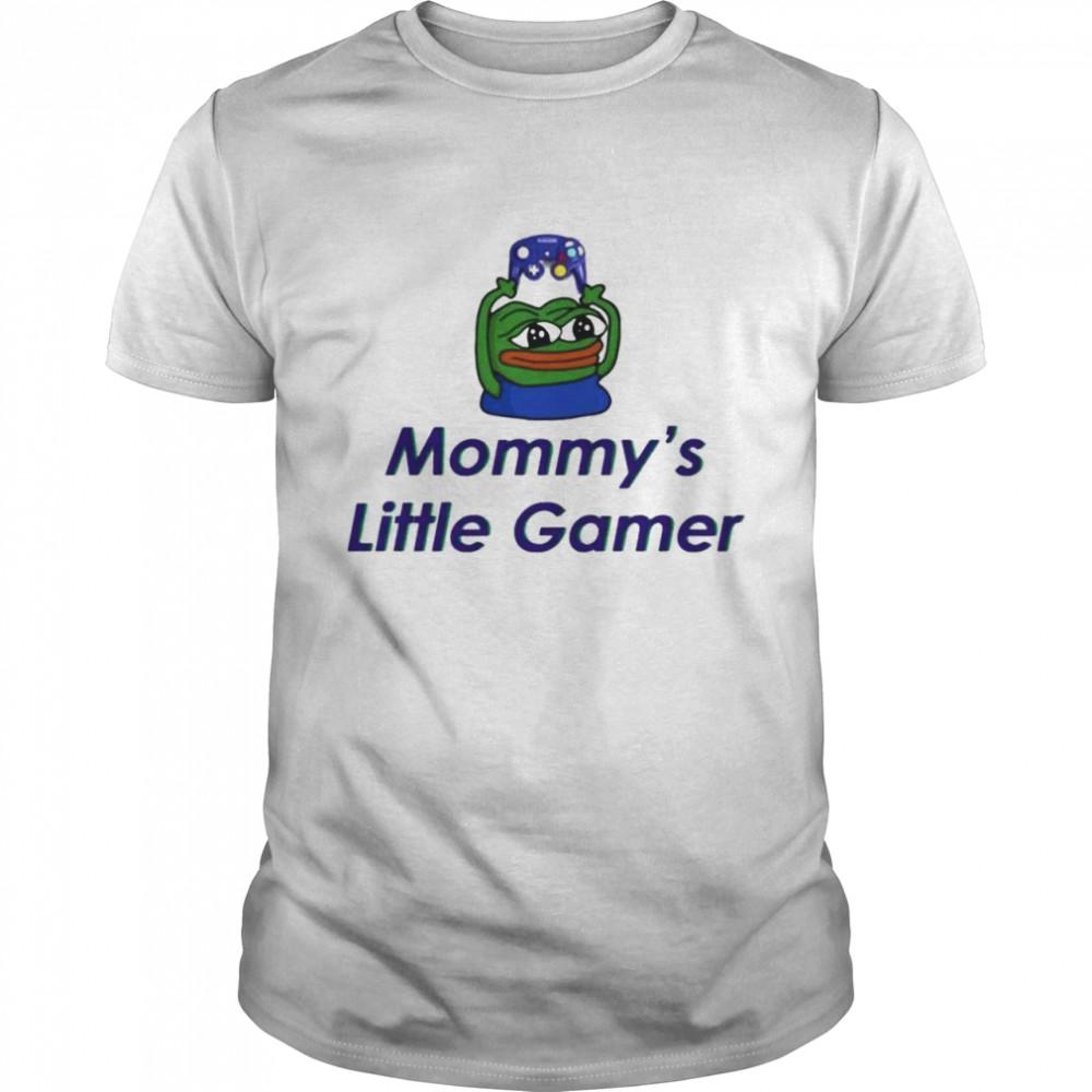 Frog pepe mommy's little gamer shirt Classic Men's T-shirt