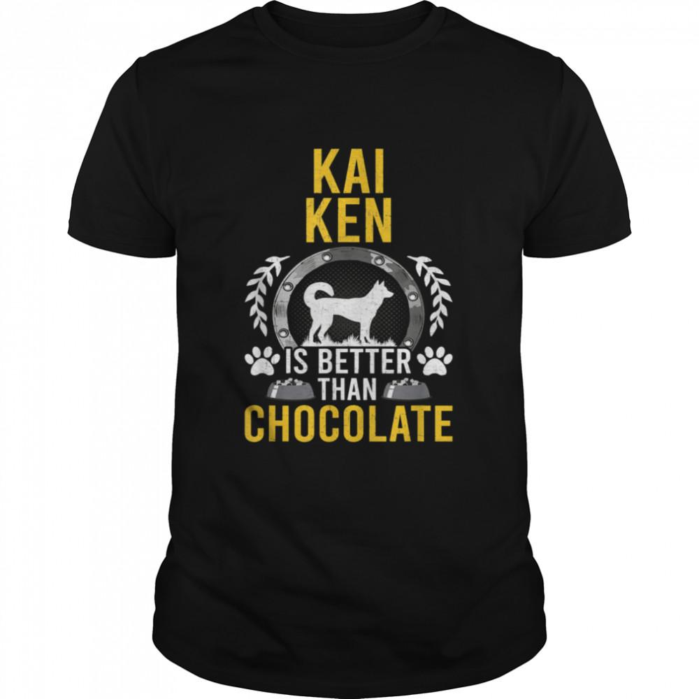 Kai Ken is Better Than Chocolate Dog Owner shirt Classic Men's T-shirt