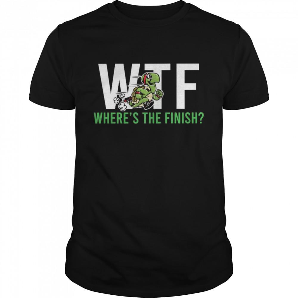 Ninja Turtle Wtf Wheres The Finish shirt Classic Men's T-shirt