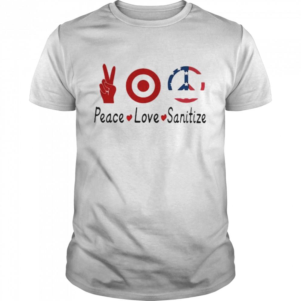 Peace Love Sanitize Target  Classic Men's T-shirt