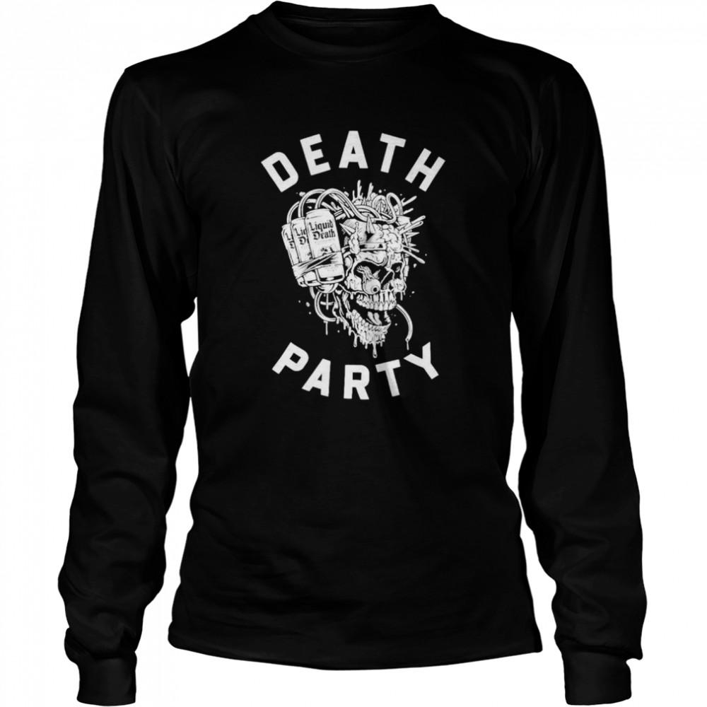 Skull Liquid Death party shirt Long Sleeved T-shirt