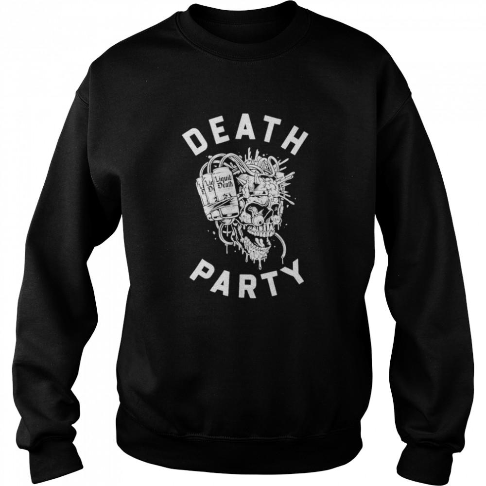Skull Liquid Death party shirt Unisex Sweatshirt