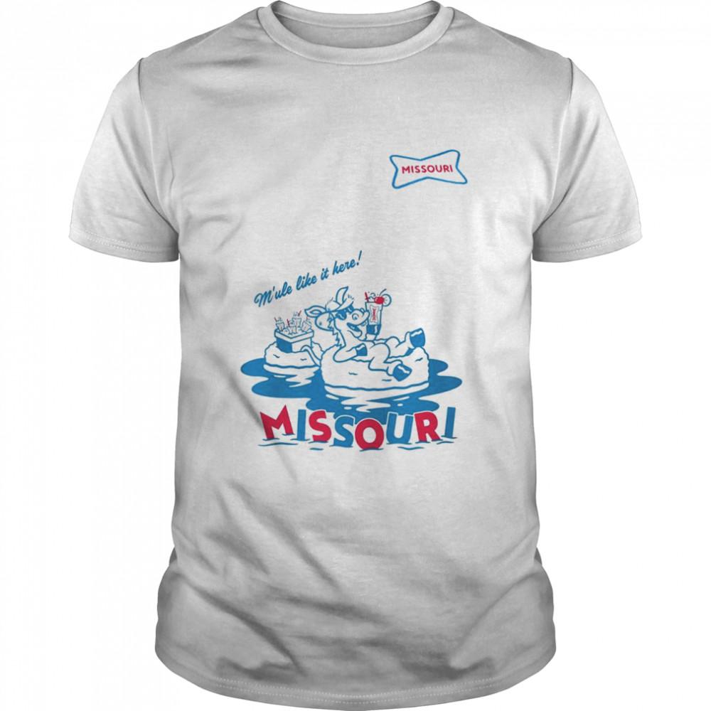 Sonic M'ule like it here Missouri shirt Classic Men's T-shirt