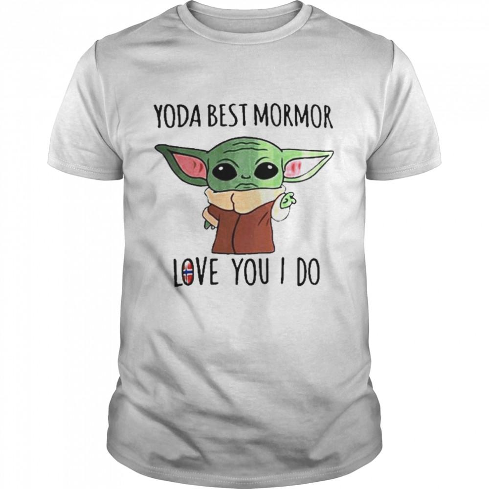 Yoda Best Mormor Love You I Do Norway Flag  Classic Men's T-shirt