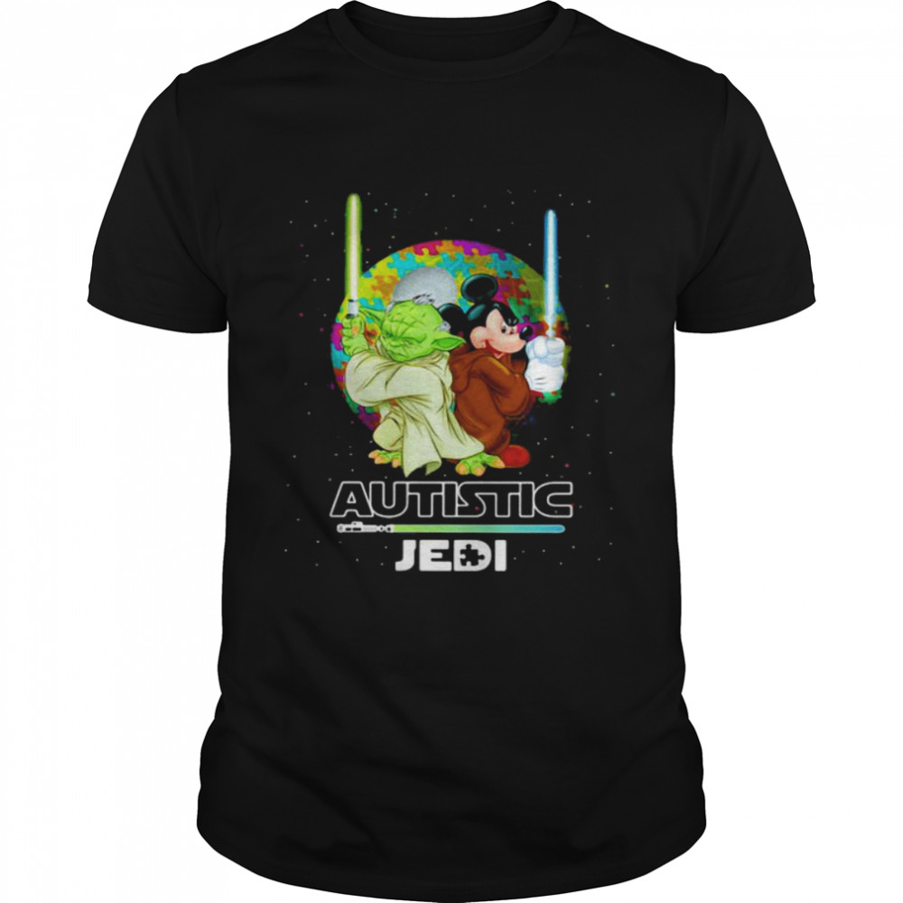 Autistic Jedi Yoda And Mickey Mouse  Classic Men's T-shirt