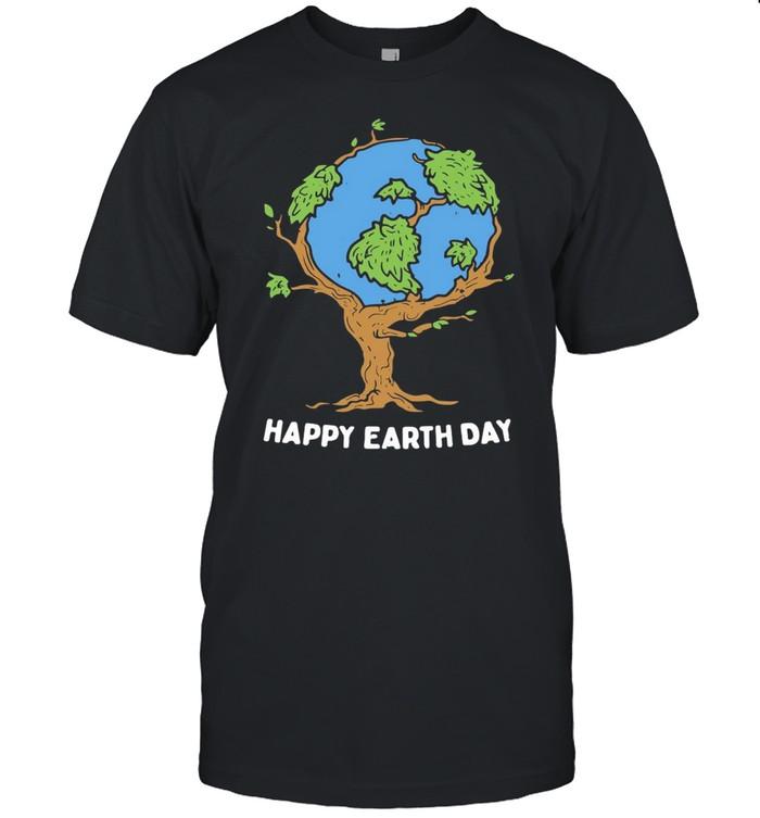 Earth Tree Happy Earth Day shirt Classic Men's T-shirt
