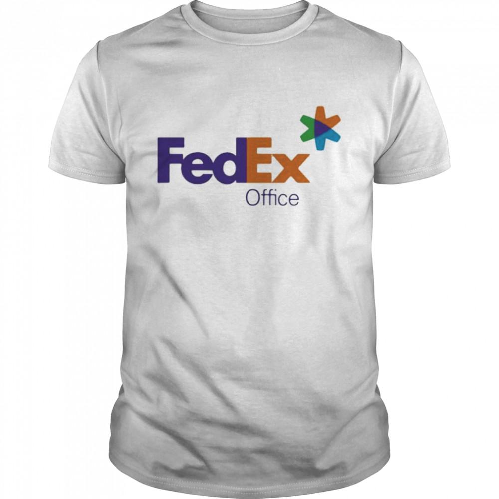 Fedex Office Logo Purple Orange  Classic Men's T-shirt