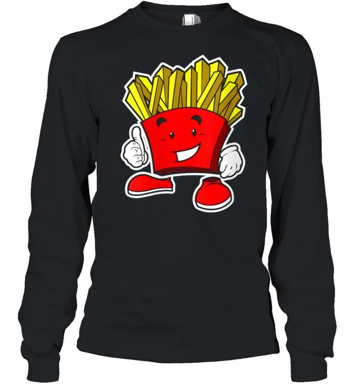 French Fry Cartoon Thumbs Up shirt Long Sleeved T-shirt