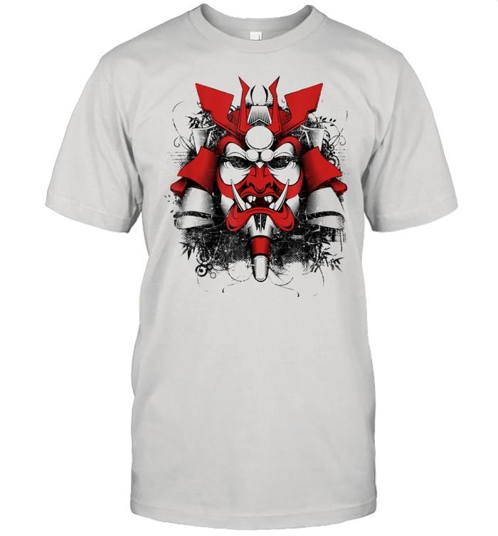 Japanese Demon Art face Skull Devil Oni Harajuku Aesthetic  Classic Men's T-shirt