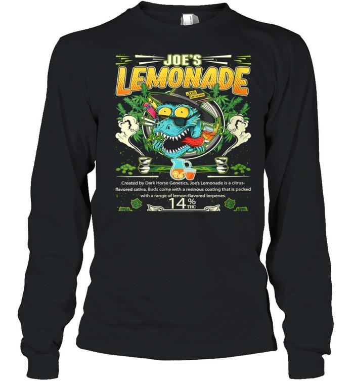 Joe's Lemonade Hybrid Cross Marijuana Strain Cannabis Leaf shirt Long Sleeved T-shirt
