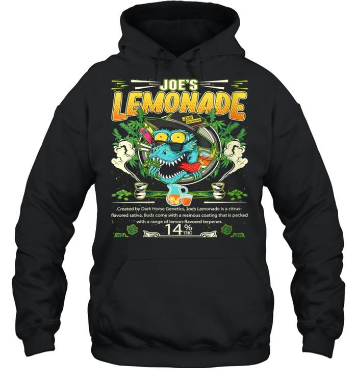Joe's Lemonade Hybrid Cross Marijuana Strain Cannabis Leaf shirt Unisex Hoodie
