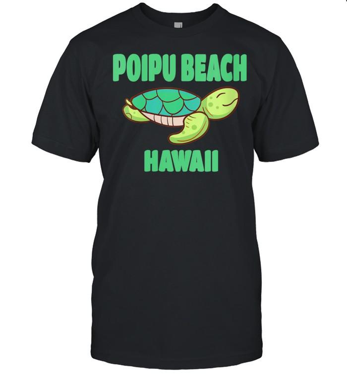 Poipu Beach Hawaii Sea Turtle Themed  Classic Men's T-shirt