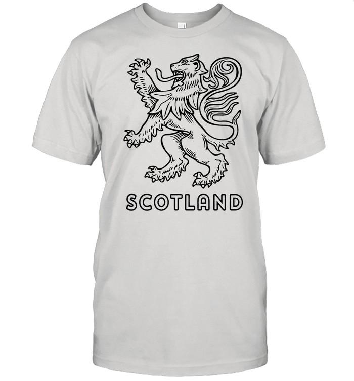 Scottish Rampant Lion Scotland Rugby Football Langarmshirt  Classic Men's T-shirt