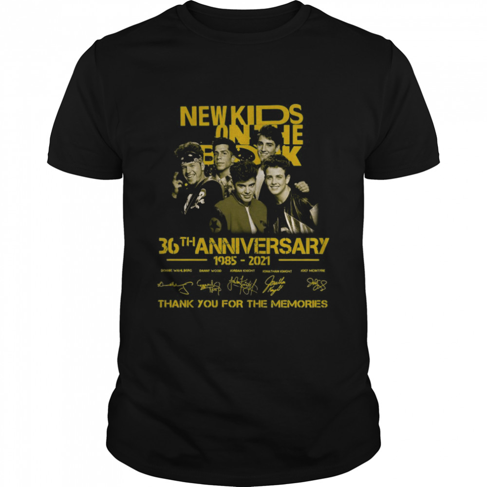 The New Kids On The Block 36th Anniversary 1985 2021 Signatures Thank You For The Memories shirt Classic Men's T-shirt