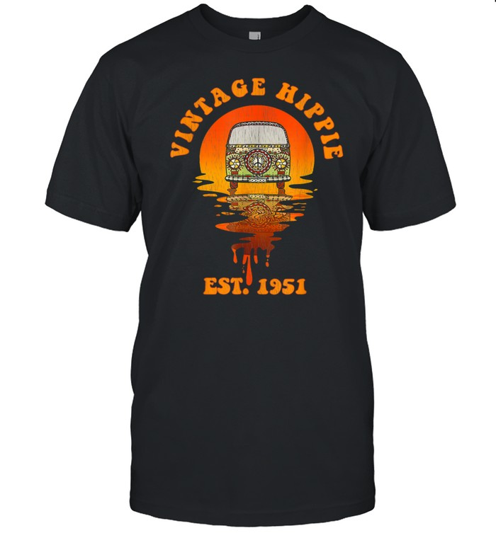 Vintage Hippie Est. And Born In 1951 70th Birthday shirt Classic Men's T-shirt