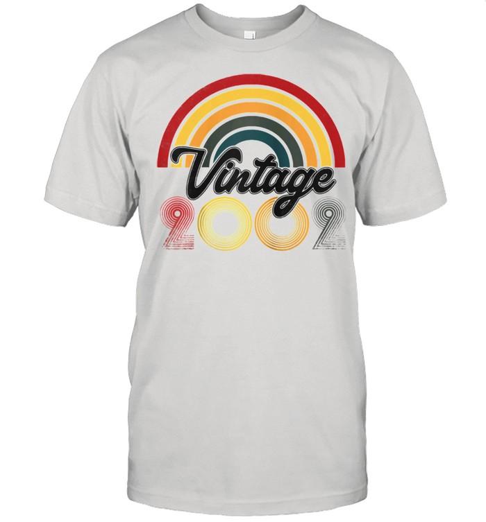 19th Birthday Vintage 2002 Retro Born  Classic Men's T-shirt