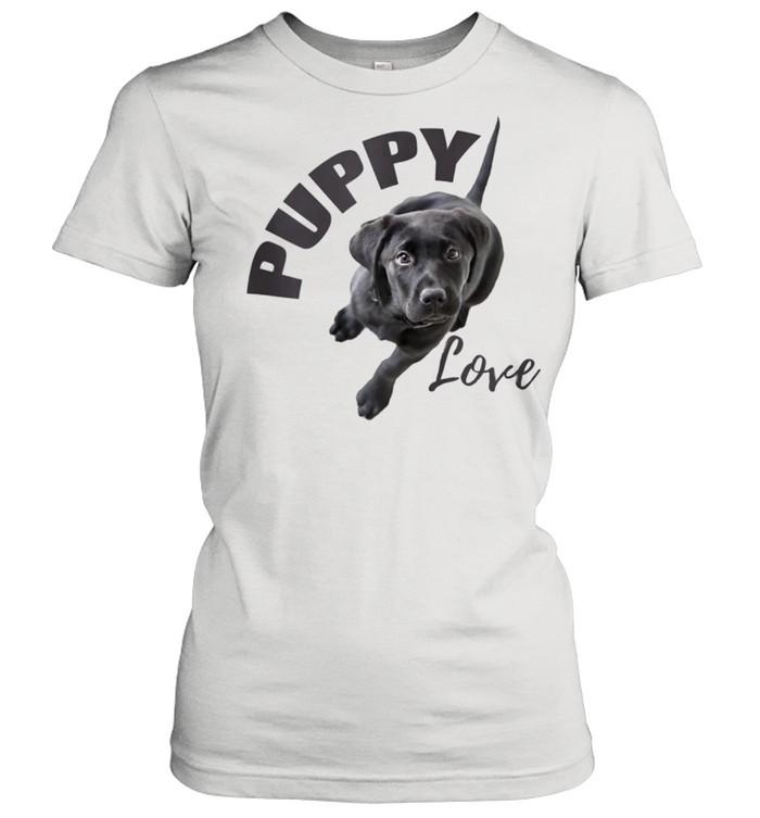 Black Lab Puppy Love  Classic Women's T-shirt