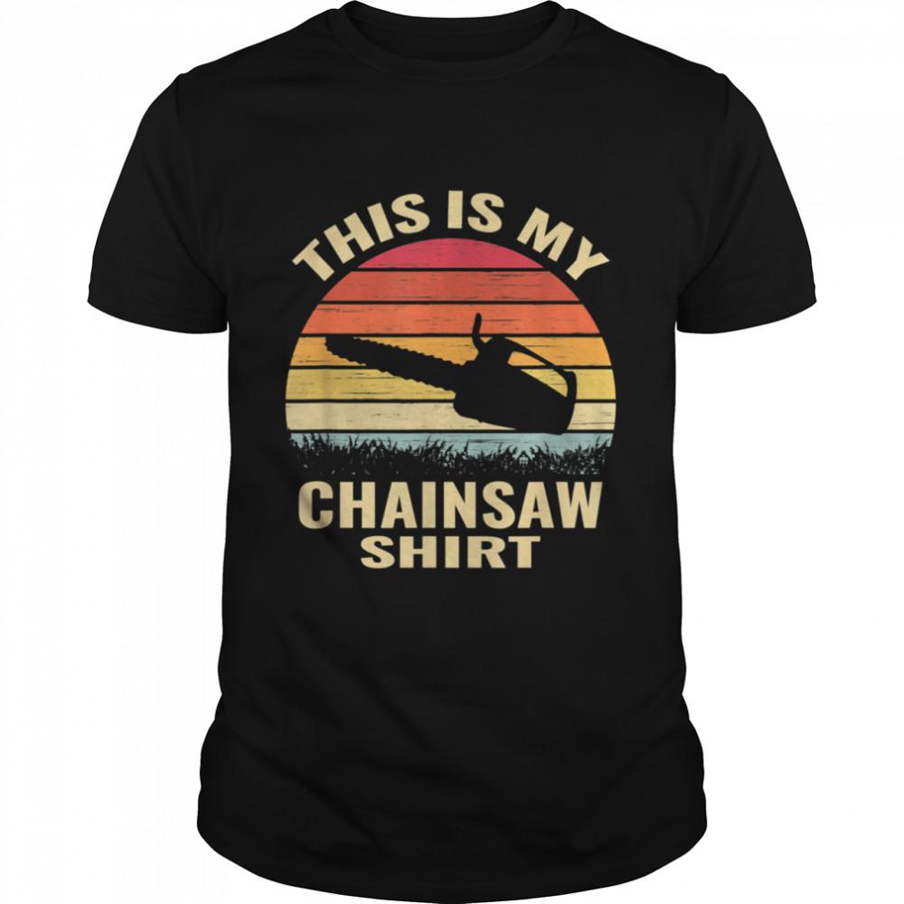 chainsaws lumberjack arborist retro vintage shirt Classic Men's T-shirt