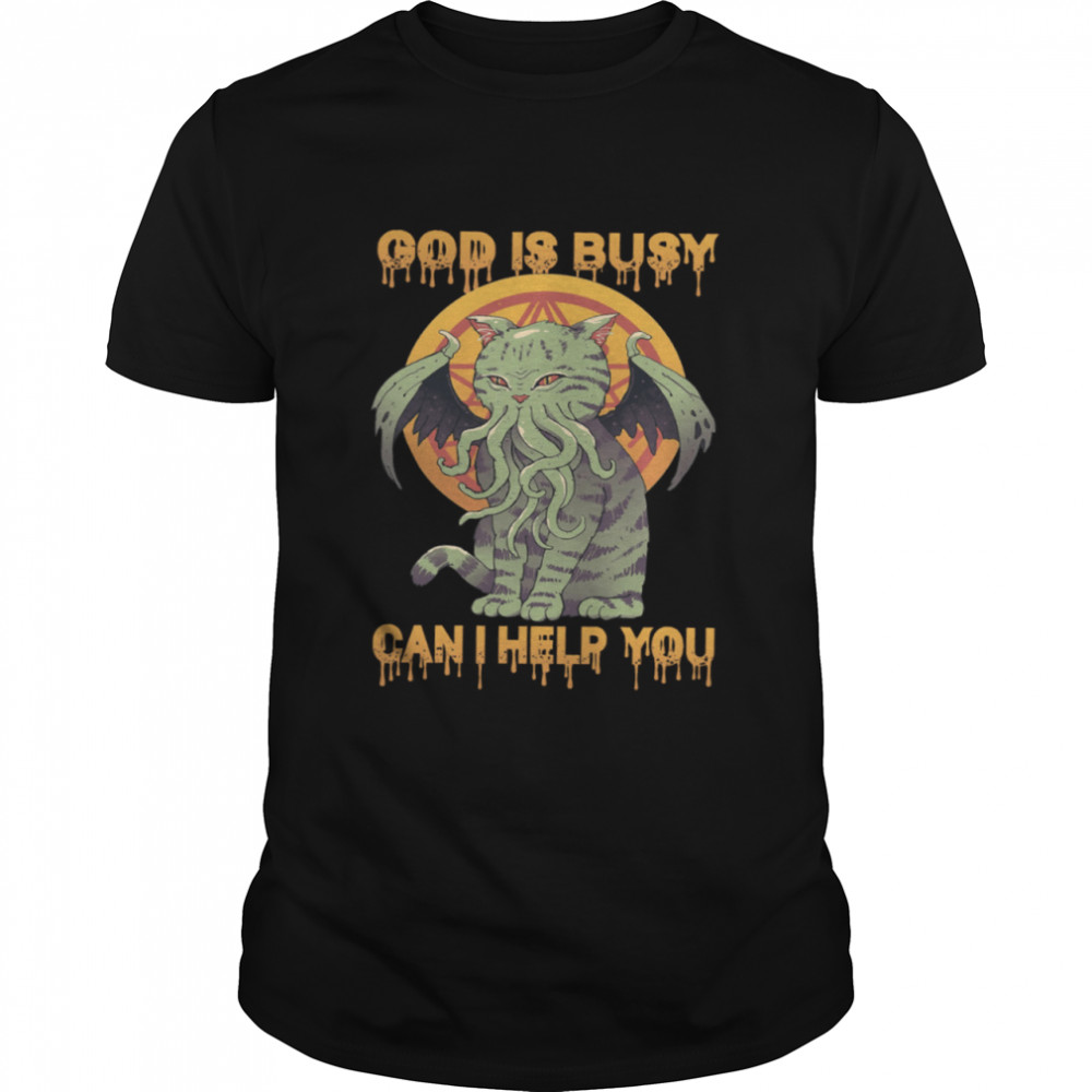 God Is Busy Can I Help You shirt Classic Men's T-shirt