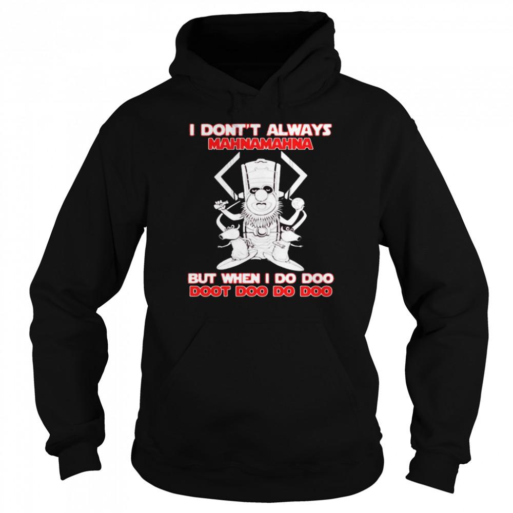 I Don't Always Mahnamahna But When I Do Doo Doot Doo Do Doo Puppet Viking  Unisex Hoodie