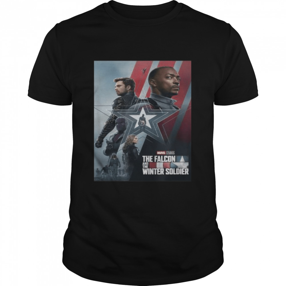 Marvel The Falcon and The Winter Soldier Series Poster  Classic Men's T-shirt