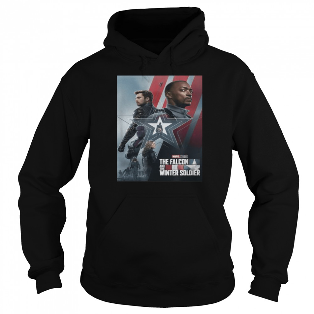 Marvel The Falcon and The Winter Soldier Series Poster  Unisex Hoodie