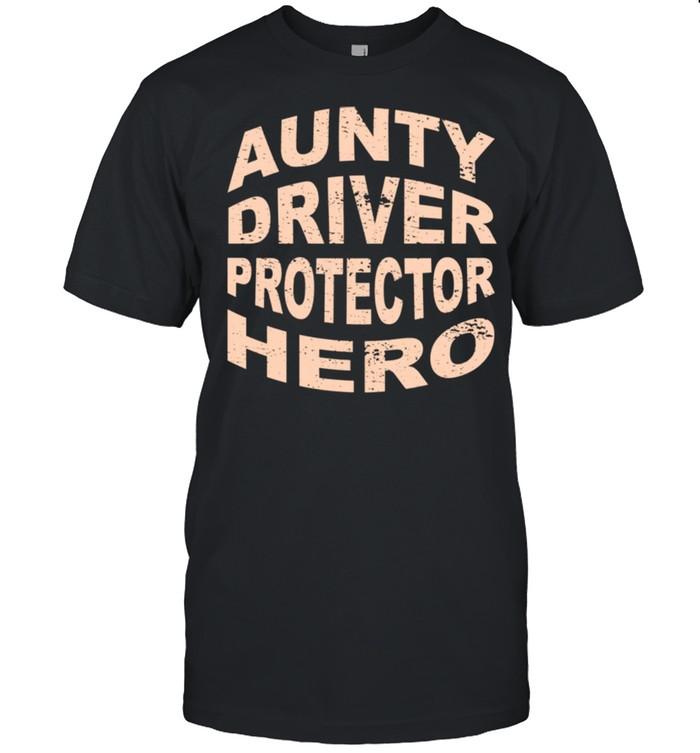 Aunty Driver Protector Hero Aunt Profession Superhero shirt Classic Men's T-shirt