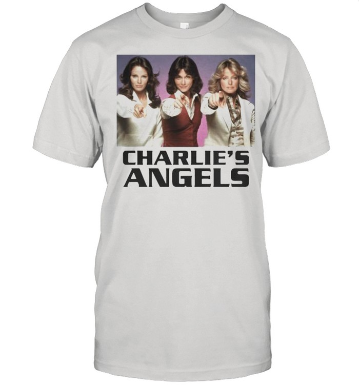 Charlie's Angels Ladies Pointing  Classic Men's T-shirt