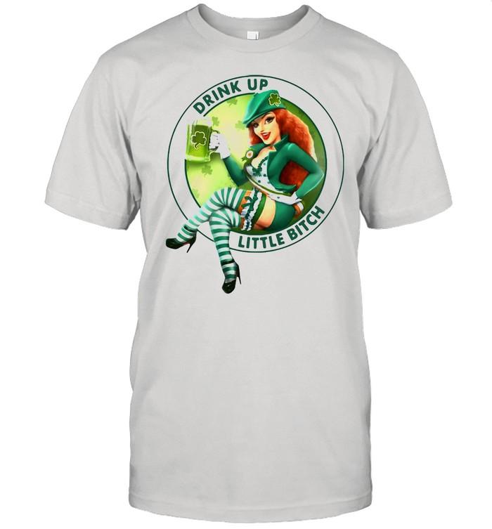 Irish Girl Drink Up Little Bitch T-shirt Classic Men's T-shirt