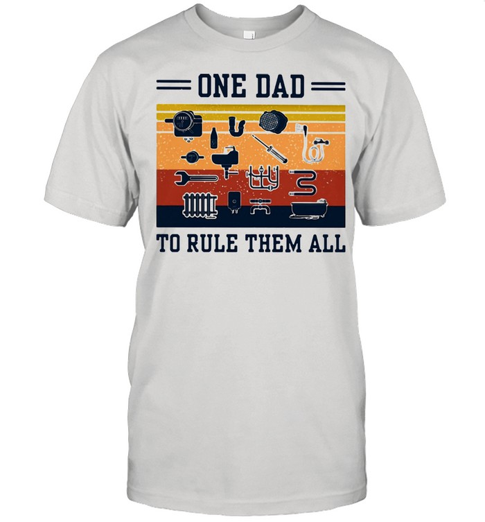 One Dad To Rule Them All Vintage  Classic Men's T-shirt