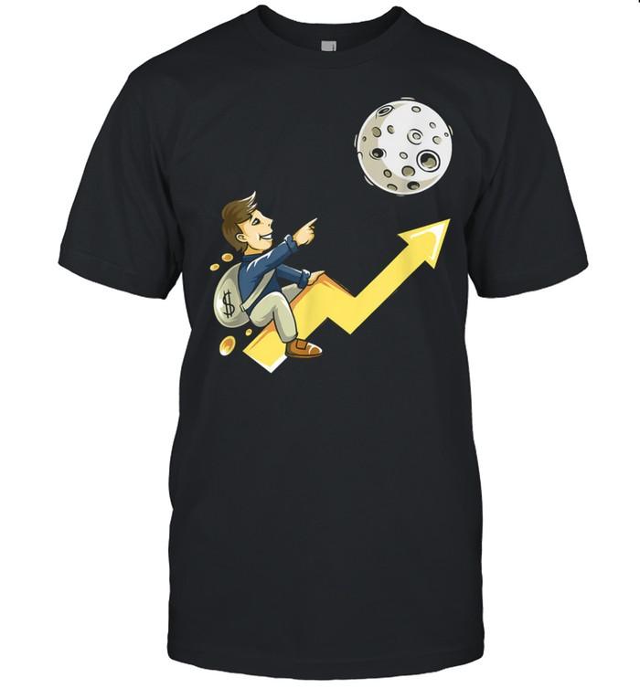 The Moon Stocks Crypto Currency Stonks Trading Money shirt Classic Men's T-shirt
