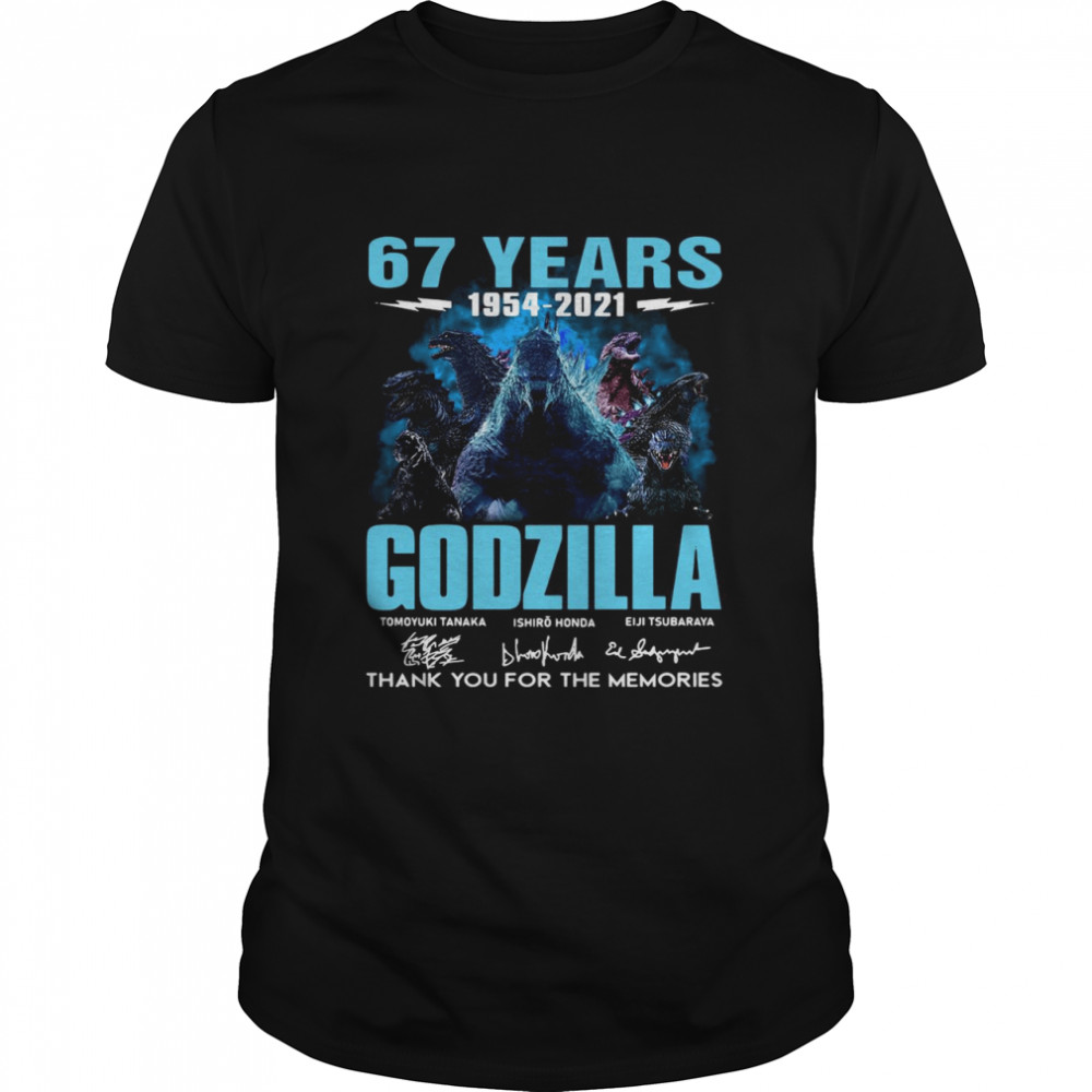67 Years Godzilla 1954 2021 Thank You For The Memories Signatures shirt Classic Men's T-shirt